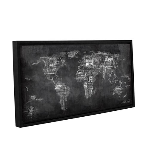 Brushstone World Of Life: Chalkboard Gallery Wrapped Floater-Framed Canvas Wall Art