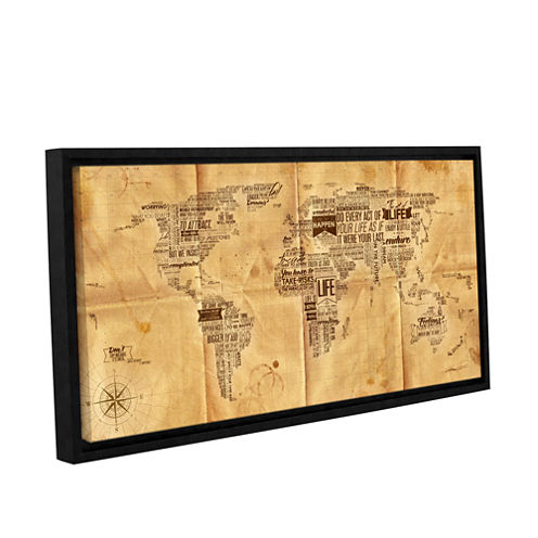 Brushstone World Of Life: Sea Chart Gallery Wrapped Floater-Framed Canvas Wall Art
