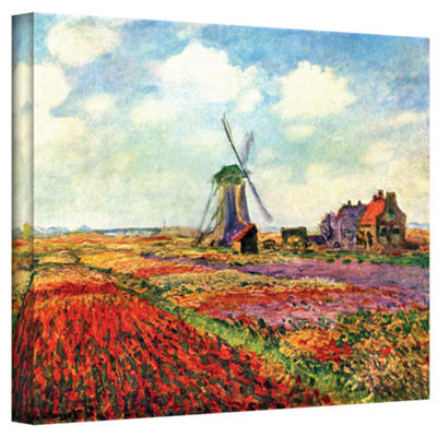 Brushstone Windmill by Claude Monet Gallery Wrapped Canvas Wall Art