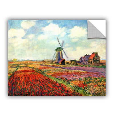 Brushstone Windmill by Claude Monet Removable WallDecal