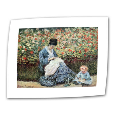 Brushstone Woman With Sunshade by Claude Monet Canvas Wall Art