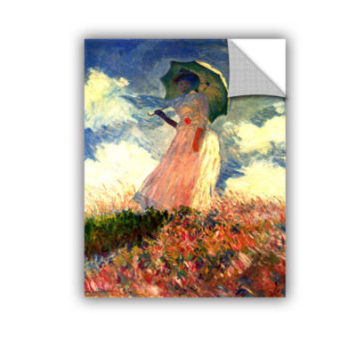 Brushstone Woman With Sunshade by Claude Monet Removable Wall Decal
