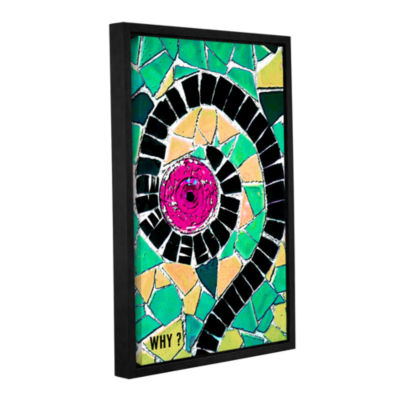 Brushstone Why Gallery Wrapped Floater-Framed Canvas Wall Art