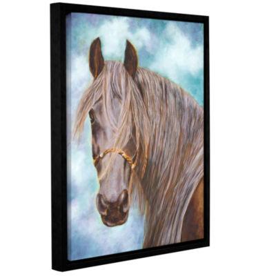 Brushstone Whisper Gallery Wrapped Floater-FramedCanvas Wall Art