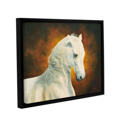 Brushstone White Magic Gallery Wrapped Floater-Framed Canvas Wall Art
