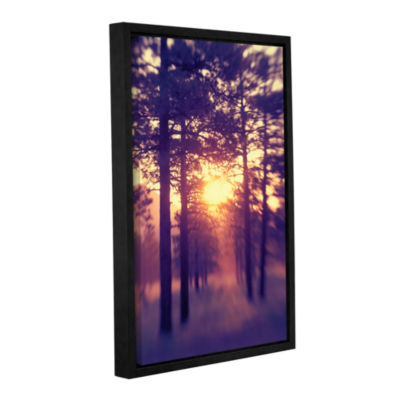 Brushstone Woodland Sunset Gallery Wrapped Floater-Framed Canvas Wall Art