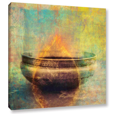 Brushstone Weathered Bowl Gallery Wrapped Canvas Wall Art