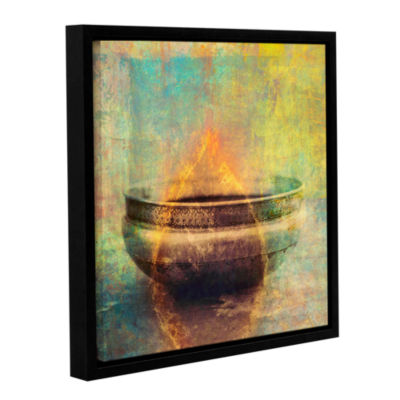 Brushstone Weathered Bowl Gallery Wrapped Floater-Framed Canvas Wall Art