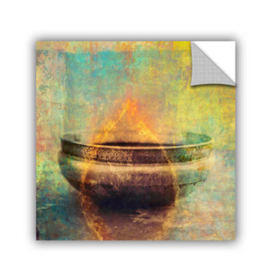 Brushstone Weathered Bowl Removable Wall Decal