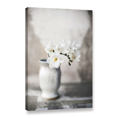 Brushstone White Orchid Gallery Wrapped Canvas Wall Art