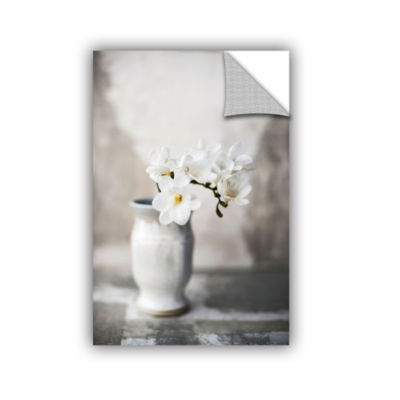 Brushstone White Orchid Removable Wall Decal