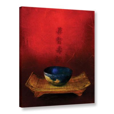 Brushstone Wisdom; Happiness; Longevity; Fortune Gallery Wrapped Canvas Wall Art