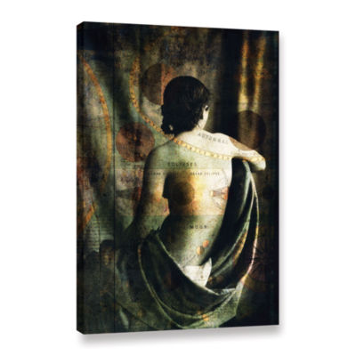 Brushstone Woman Of The Sun And Moon Gallery Wrapped Canvas Wall Art