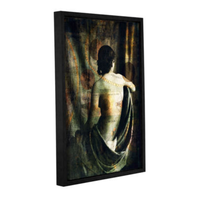 Brushstone Woman Of The Sun And Moon Gallery Wrapped Floater-Framed Canvas Wall Art
