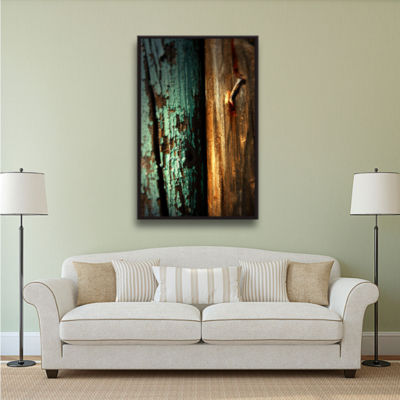 Brushstone Wood And Nail Gallery Wrapped Floater-Framed Canvas Wall Art