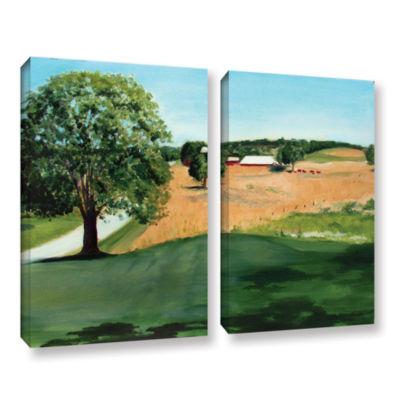 Brushstone Western Pennsylvania Farm 2-pc. GalleryWrapped Canvas Wall Art