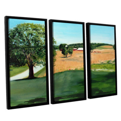 Brushstone Western Pennsylvania Farm 3-pc. FloaterFramed Canvas Wall Art