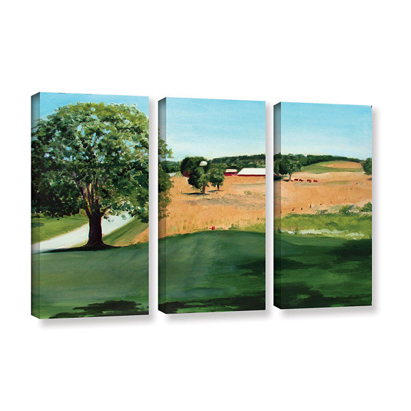 Brushstone Western Pennsylvania Farm 3-pc. GalleryWrapped Canvas Wall Art
