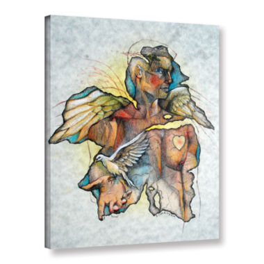Brushstone Wonder III Gallery Wrapped Canvas WallArt