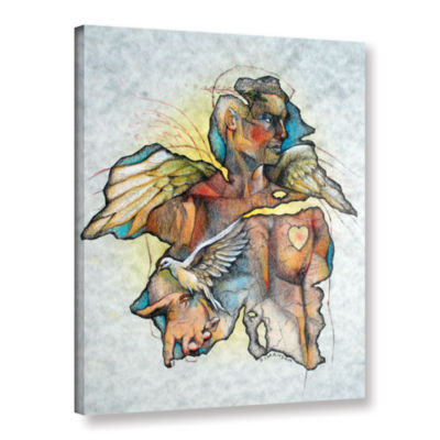 Brushstone Wonder III Gallery Wrapped Canvas WallArt