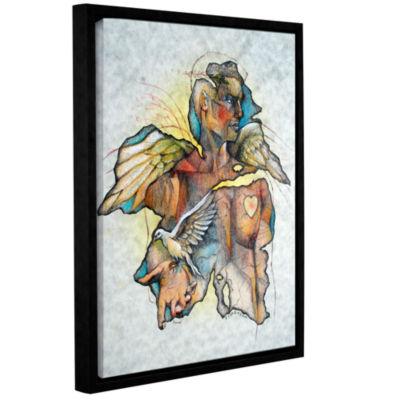 Brushstone Wonder III Gallery Wrapped Floater-Framed Canvas Wall Art