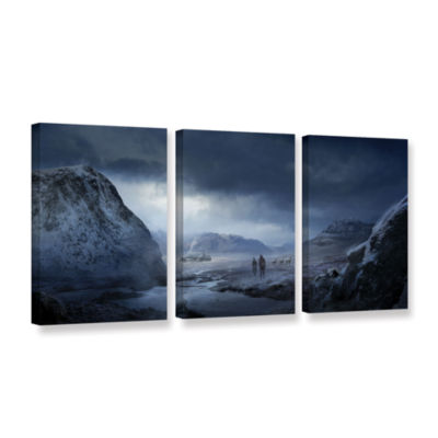 Brushstone Winter 3-pc. Gallery Wrapped Canvas Wall Art