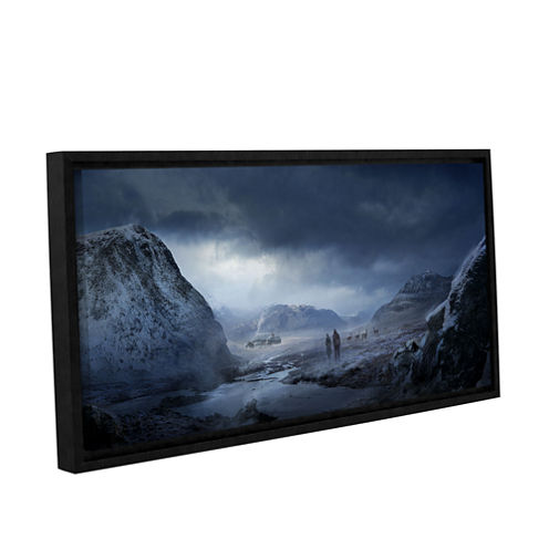 Brushstone Winter Gallery Wrapped Floater-Framed Canvas Wall Art