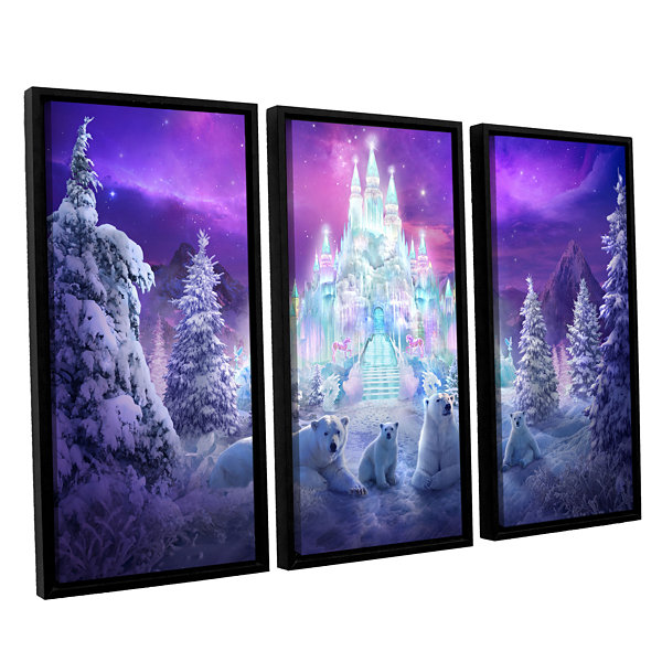 Brushstone Winter Wonderland 3-pc. Floater FramedCanvas Wall Art