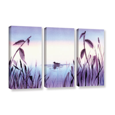 Brushstone When The Sky Melts With The Water 3-pc.Gallery Wrapped Canvas Wall Art