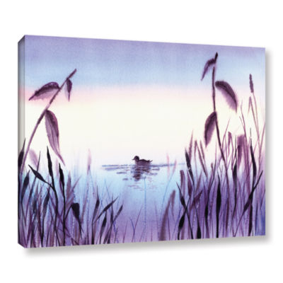 Brushstone When The Sky Melts With The Water Gallery Wrapped Canvas Wall Art