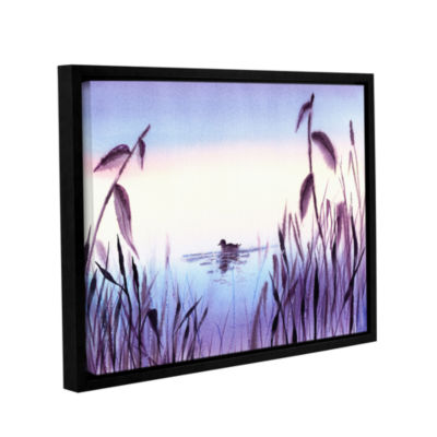 Brushstone When The Sky Melts With The Water Gallery Wrapped Floater-Framed Canvas Wall Art