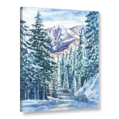 Brushstone Winter Landscape Gallery Wrapped CanvasWall Art