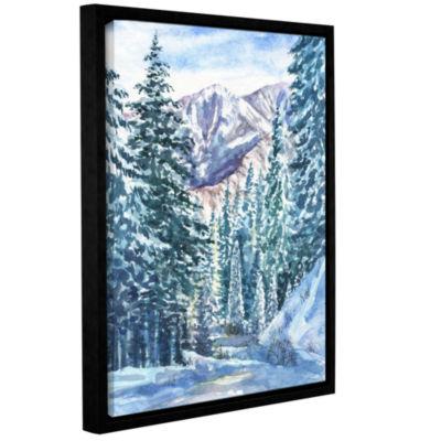 Brushstone Winter Landscape Gallery Wrapped Floater-Framed Canvas Wall Art