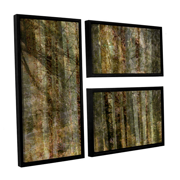 Brushstone Wood For The Trees 3-pc. Flag Floater Framed Canvas Wall Art