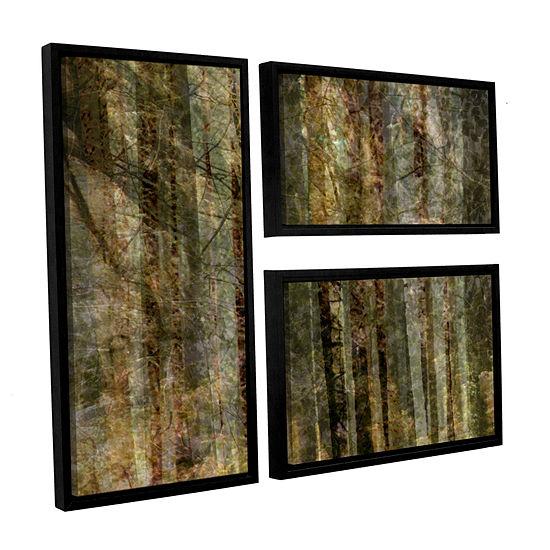 Brushstone Wood For The Trees 3 Pc Flag Floater Framed Canvas Wall Art