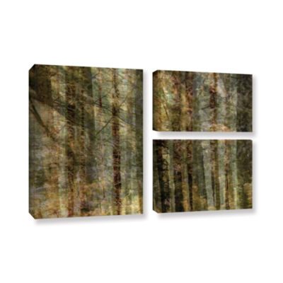 Brushstone Wood For The Trees 3-pc. Flag Gallery Wrapped Canvas Wall Art