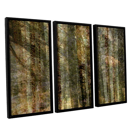 Brushstone Wood For The Trees 3-pc. Floater Framed Canvas Wall Art