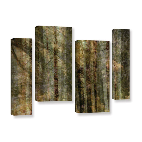 Brushstone Wood For The Trees 4-pc. Gallery Wrapped Staggered Canvas Wall Art