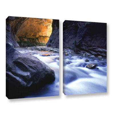 Brushstone Wirgin Narrows By Dean Uhlinger 2-pc. Gallery Wrapped Canvas Wall Art