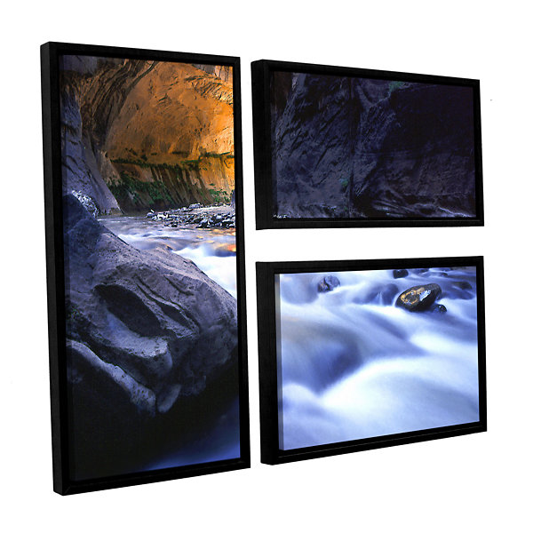 Brushstone Wirgin Narrows By Dean Uhlinger 3-pc. Flag Floater Framed Canvas Wall Art