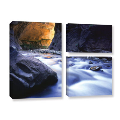 Brushstone Wirgin Narrows By Dean Uhlinger 3-pc. Flag Gallery Wrapped Canvas Wall Art