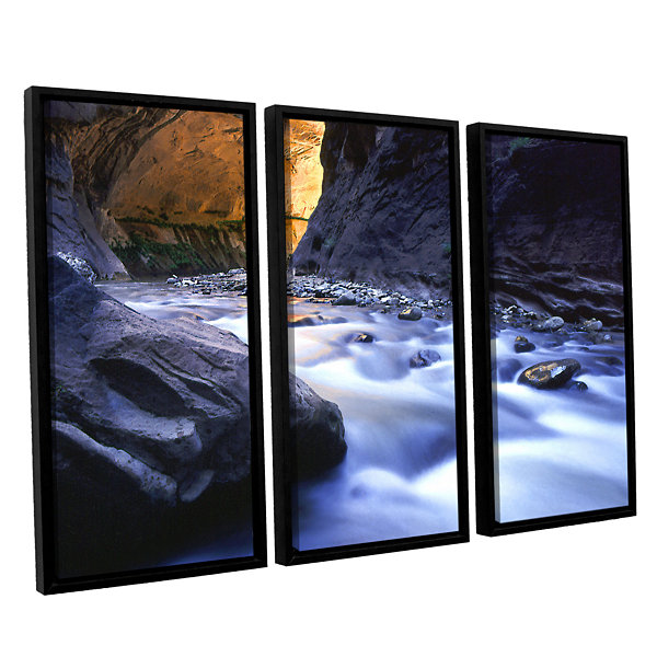 Brushstone Wirgin Narrows By Dean Uhlinger 3-pc. Floater Framed Canvas Wall Art
