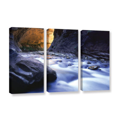 Brushstone Wirgin Narrows By Dean Uhlinger 3-pc. Gallery Wrapped Canvas Wall Art