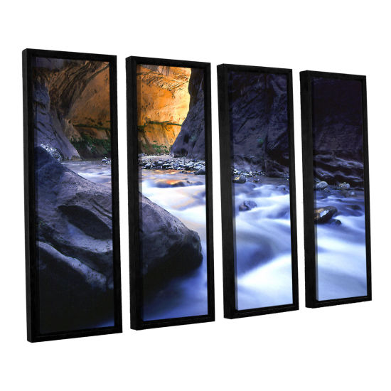 Brushstone Wirgin Narrows By Dean Uhlinger 4-pc. Floater Framed Canvas Wall Art