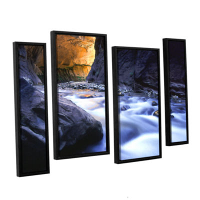 Brushstone Wirgin Narrows By Dean Uhlinger 4-pc. Floater Framed Staggered Canvas Wall Art
