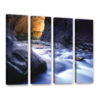 Brushstone Wirgin Narrows By Dean Uhlinger 4-pc. Gallery Wrapped Canvas Wall Art