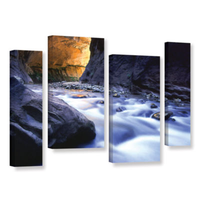 Brushstone Wirgin Narrows By Dean Uhlinger 4-pc. Gallery Wrapped Staggered Canvas Wall Art