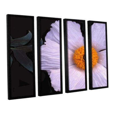 Brushstone Wild Hibiscus By Dean Uhlinger 4-pc. Floater Framed Canvas Wall Art