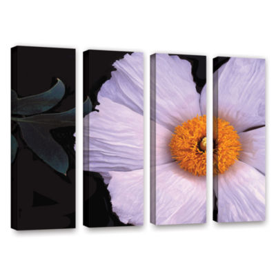 Brushstone Wild Hibiscus By Dean Uhlinger 4-pc. Gallery Wrapped Canvas Wall Art