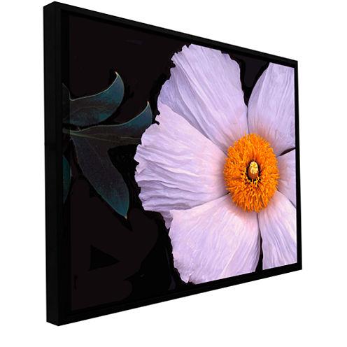 Brushstone Wild Hibiscus By Dean Uhlinger GalleryWrapped Floater-Framed Canvas Wall Art